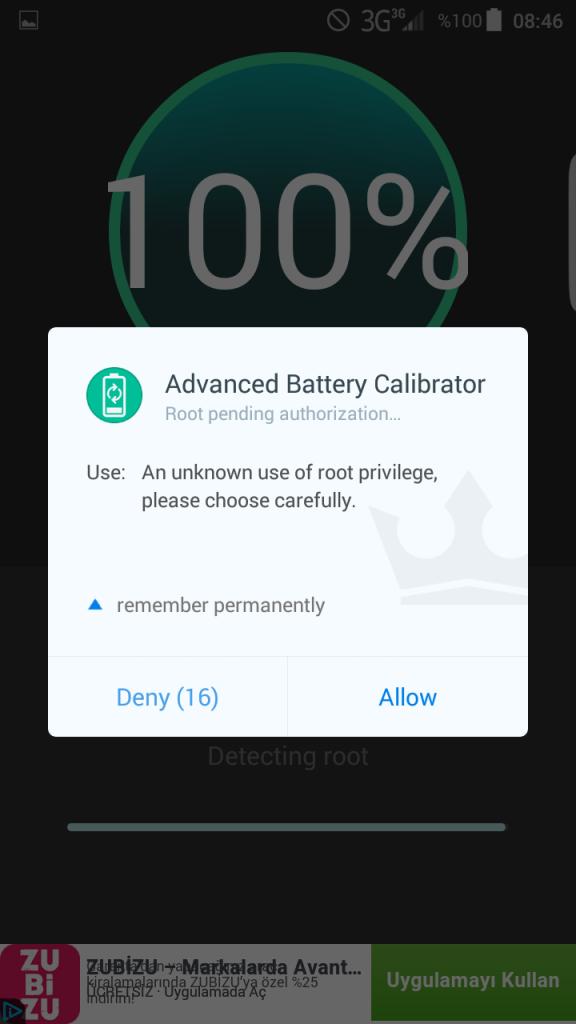 batarya kalibrasyonu android