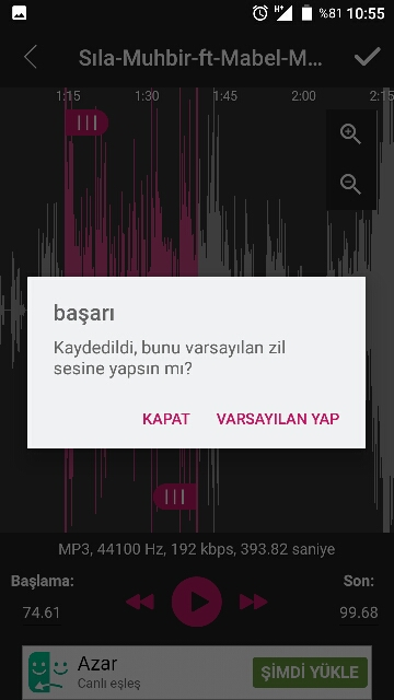 android zil sesi